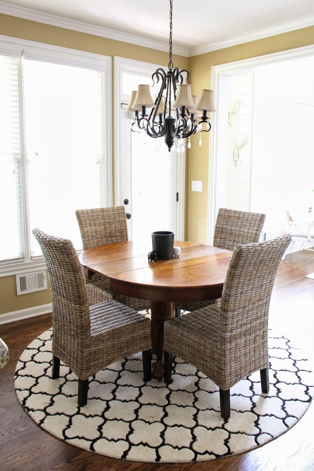 rug for kitchen table menards backsplash round rugs under roselawnlutheran