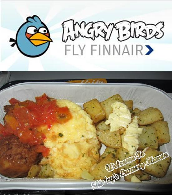 angry birds breakfast onboard finnair