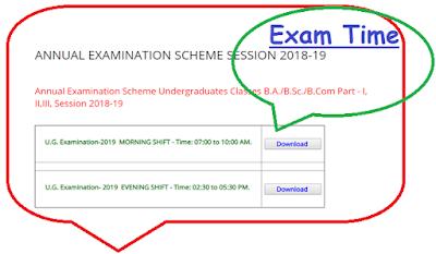 Allahabad University Exam Schedule 2019