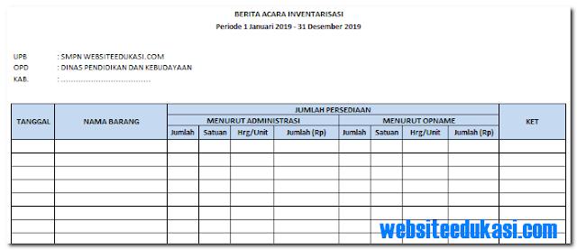 Kartu Persediaan Barang Inventaris Sekolah  Kartu Persediaan Barang Inventaris Sekolah 2019