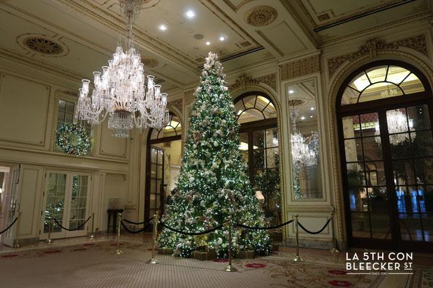 Navidades en Nueva York que ver y hacer arbol Hotel Plaza