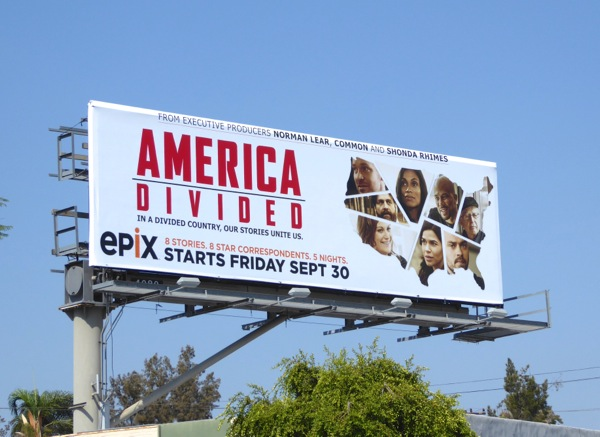 America Divided docu-series billboard