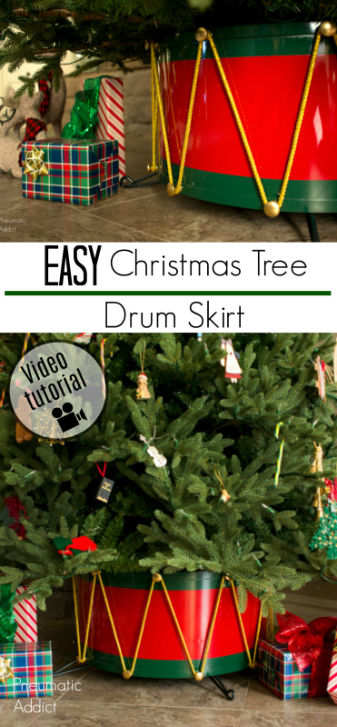 how to holiday christmas tree skirt stand cover drum video