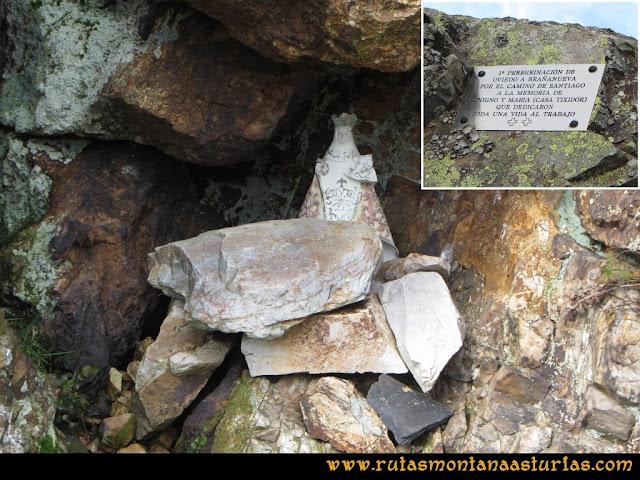 Ruta Alto Aristebano, Estoupo, Capiella Martín: Pequeña virgen en una cueva