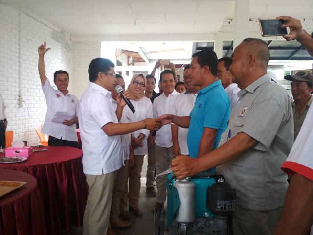 Partai Gerindra Bantu ALSINTAN Kepada Kelompok Tani Kota Pagaralam