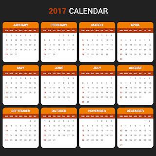 2017カレンダー無料テンプレート115