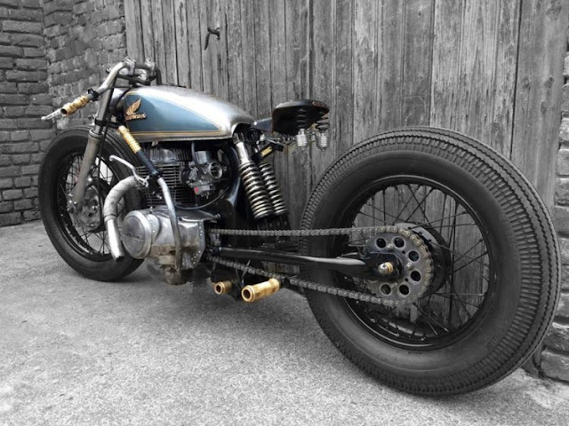 Honda CB400 by Hide Brussels Hell Kustom