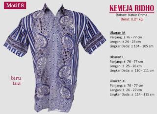 Grosir kemeja batik pria murah dan berkualitas (batik pekalongan)- ridho motif 8