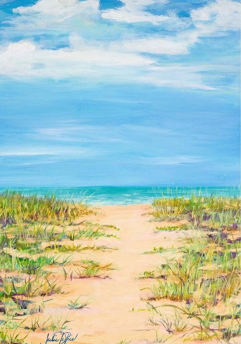 Beach Dune Path Art Canvas