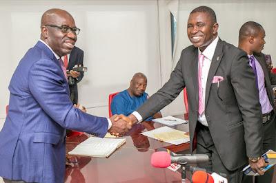 Obaseki swears in members of EDHA service commission