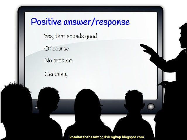 contoh positive answer atau positive responses