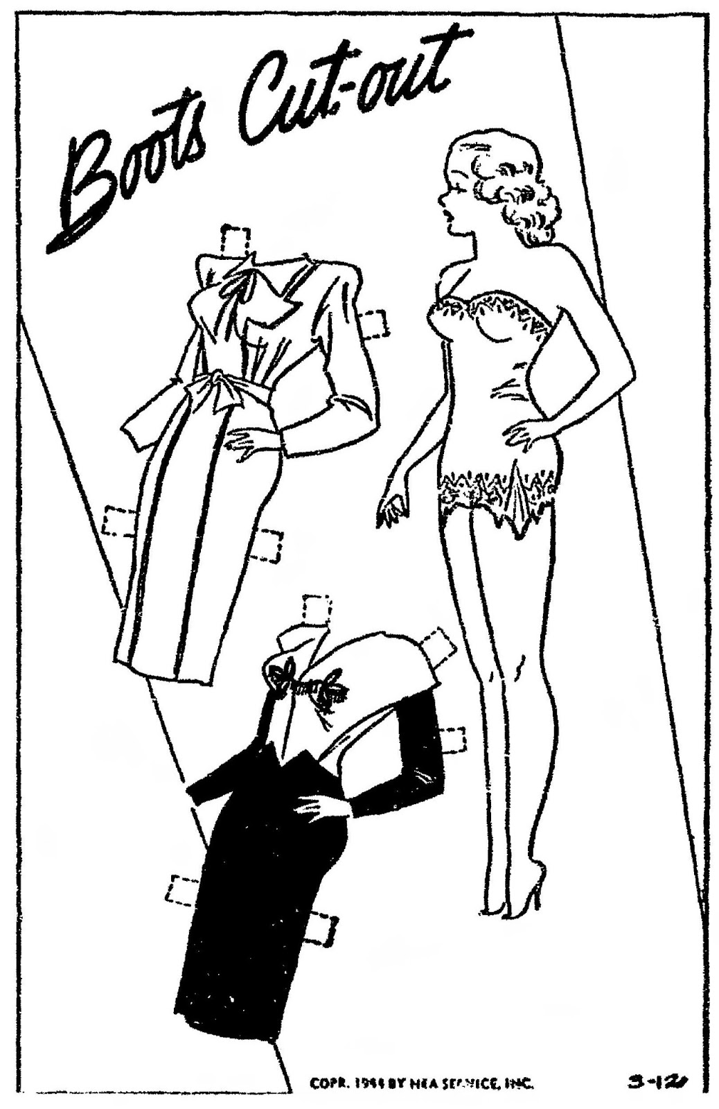 Mostly Paper Dolls Too!: BOOTS Cut-Outs from March 1944