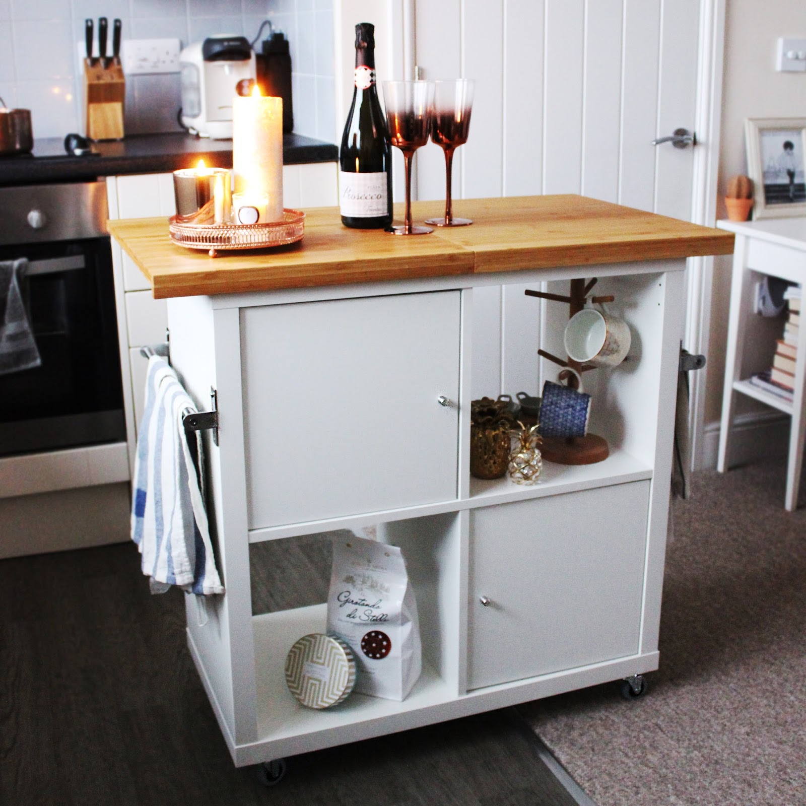 Ikea Kitchen Desk: Ikea Kallax Kitchen Island Hack