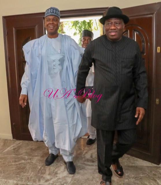 Saraki Visits Goodluck Jonathan (Photos)