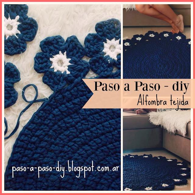 cómo hacer una alfombra tejida
