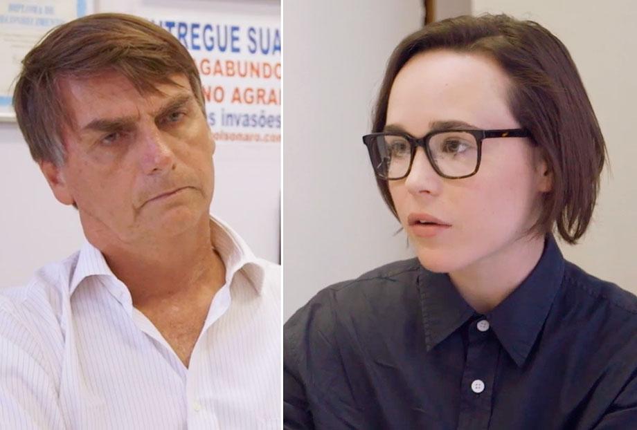 Ellen Page confronta Jair Bolsonaro sobre homofobia no Brasil