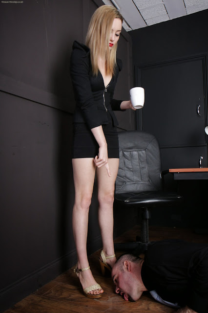 office femdom lick floor