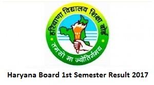 Haryana Board 1st Semester Result