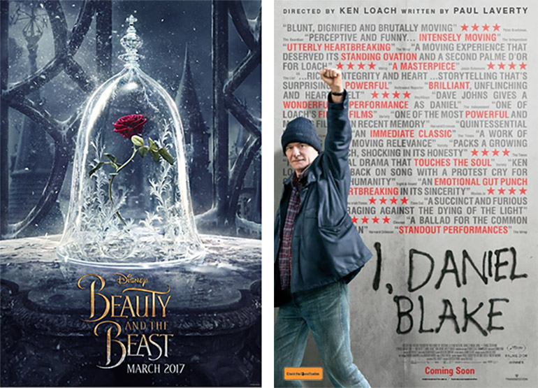 Beauty and the Beast I Daniel Blake film poster