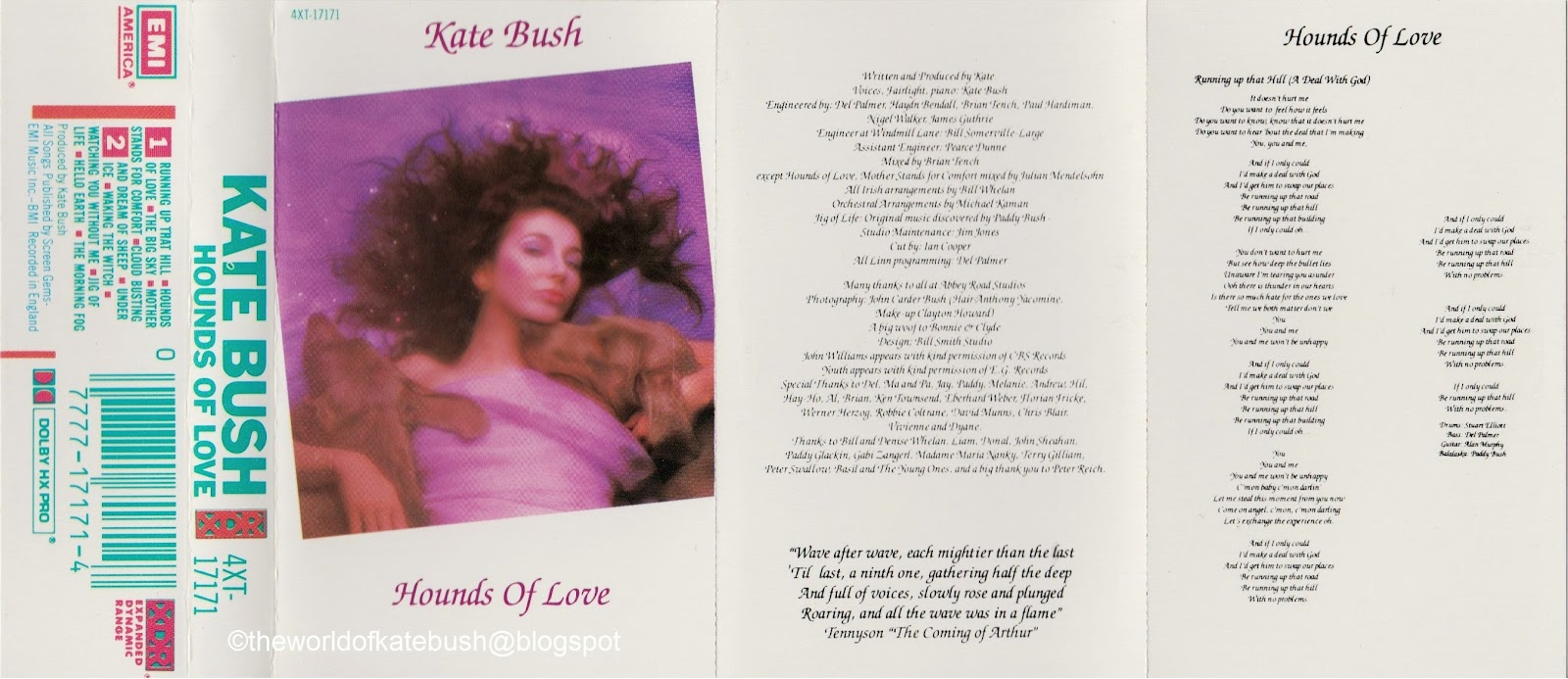 THE WORLD OF KATE BUSH: Hounds of Love - U S A Marble Cassette