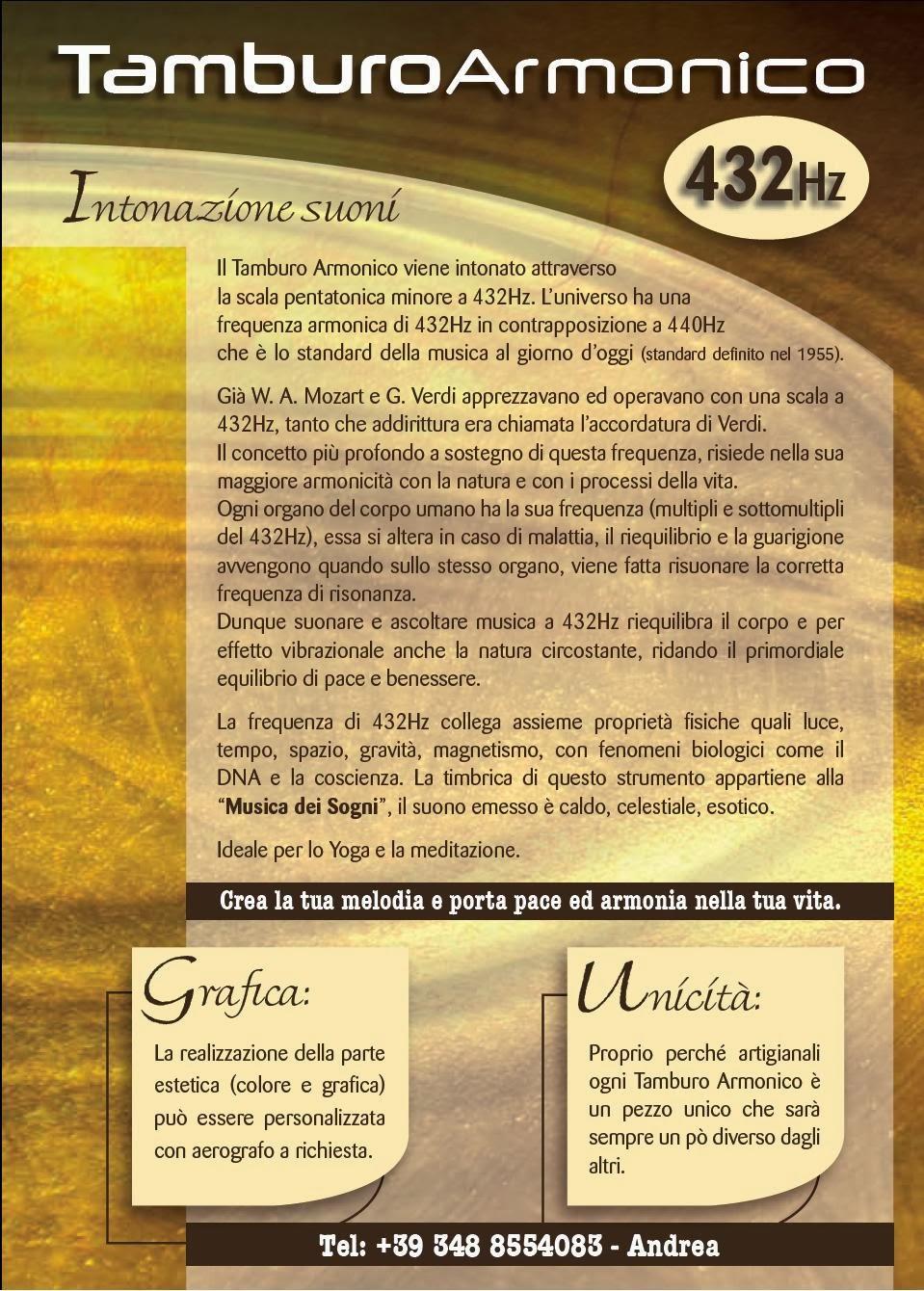 f200f27a660 Tamburo Armonico 432 Hz  nasce a Varese la Scuola per .
