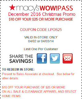 Macy's coupons for december 2016