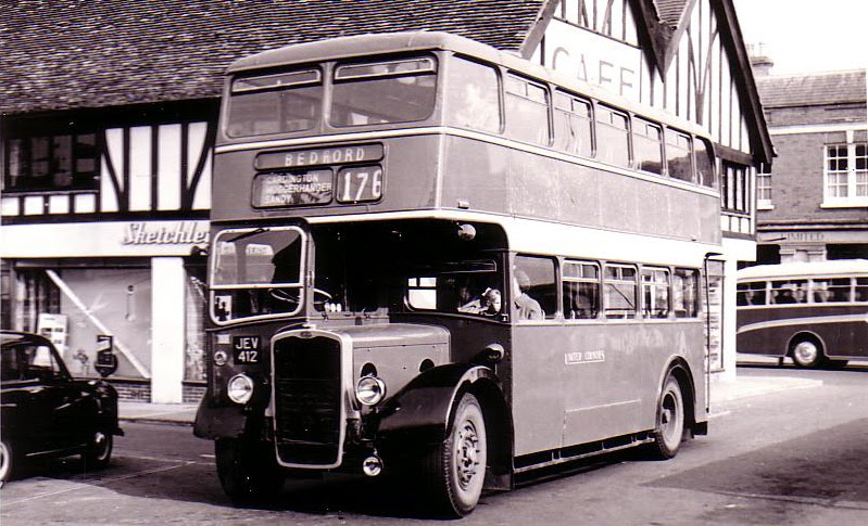 British Paintings: Bedford Double Decker Bus 1950's. |Photos Old City Buses 1950