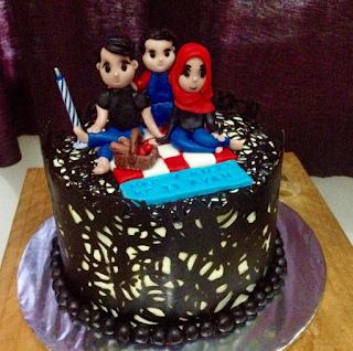 Kue Tart Coklat Motif