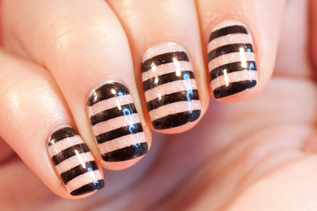 ILNP Sweet Pea Striped Bold and simple Nail Art