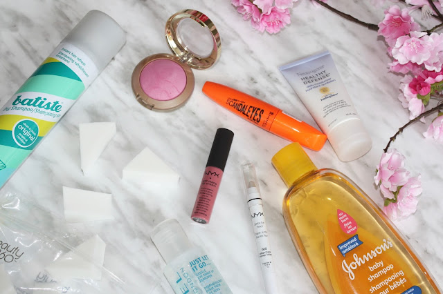 Holy Grail Drugstore Beauty Products featuring Batiste, NYX, Milani, Rimmel, Neutrogena, Johnson & Johnson