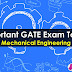 Important (ME) GATE Topics - Mechanical Engineering Branch