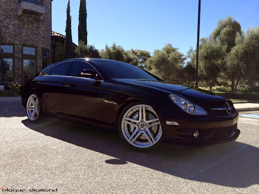 "2006 CLS 55 AMG with 20"" BD-6 Silver with Polished Face"