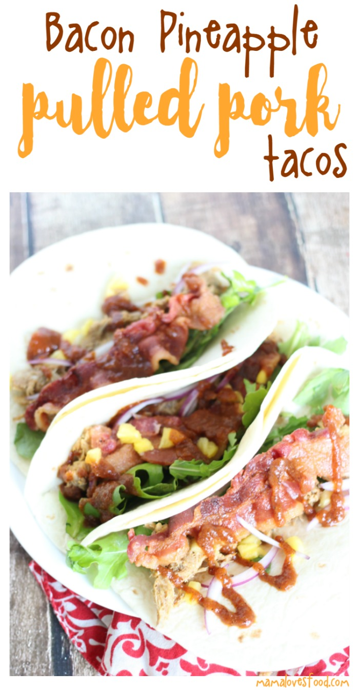 Bacon Pineapple Pulled Pork Tacos Recipe