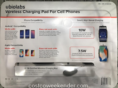 Costco 1265448 - Ubio Labs Wireless Charging Pad: convenient and easy to keep your smartphone from dying