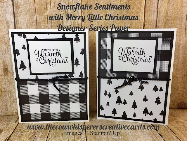 Snowflake Sentiments, Merry Little Christmas, Designer Series Paper, DSP, Stampin UP, Card, Christmas