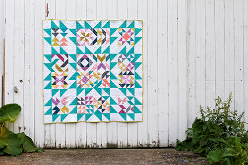 http://www.incolororder.com/2016/05/blockade-quilt-setting-tutorial.html