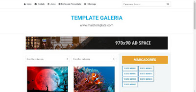 Modelo Template Galeria para blogger