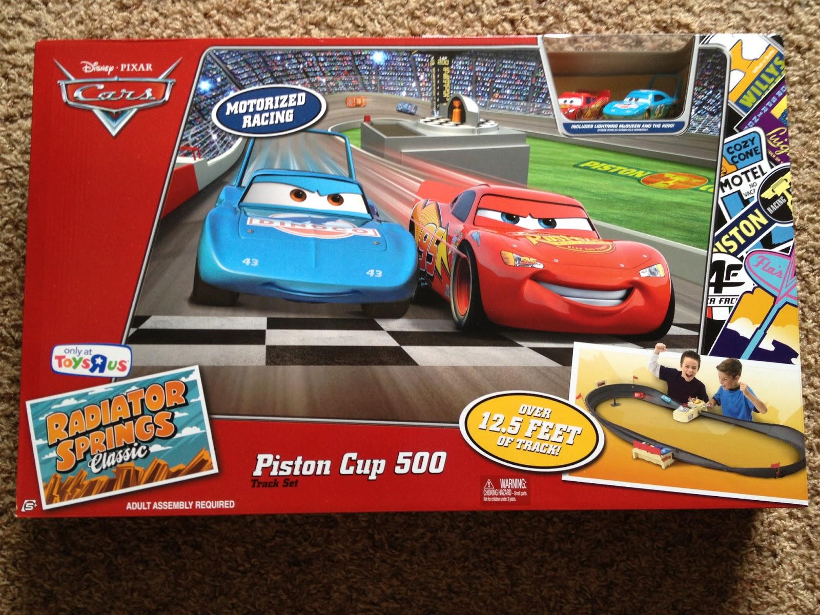 Dan The Pixar Fan Cars Piston Cup 500 Track Set