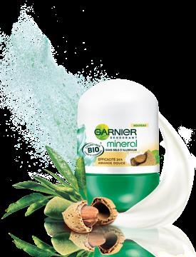 Déodorant Efficacité 24h Amande Douce Mineral Bio - Garnier