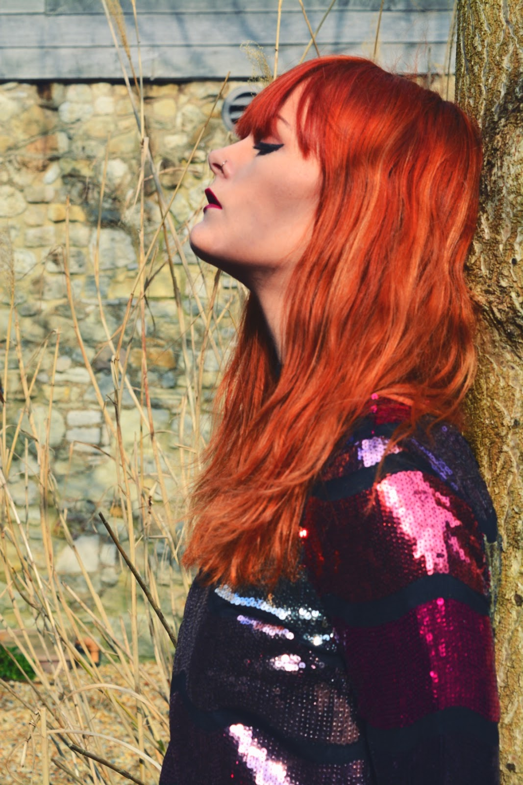 ASOS Sequin Maxi Dress Fashion Blogger Ginger Hair