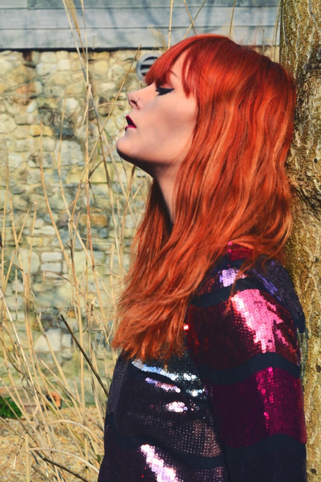 ASOS Sequin Maxi Dress Fashion Blogger Ginger Hair