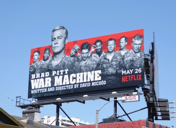 War Machine movie billboard