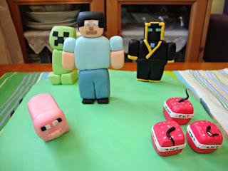 Personajes Minecraft de fondant