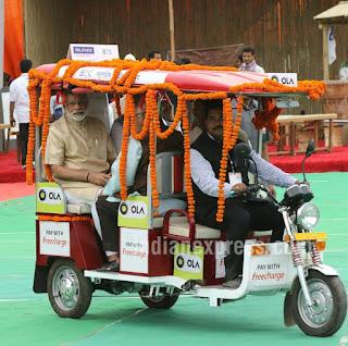 PM Modi to book first e-rickshaw through Ola: 'Stand up India'