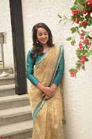 Tejaswi Madivada looks super cute in Saree at V care fund raising event COLORS ~  Exclusive 055.JPG