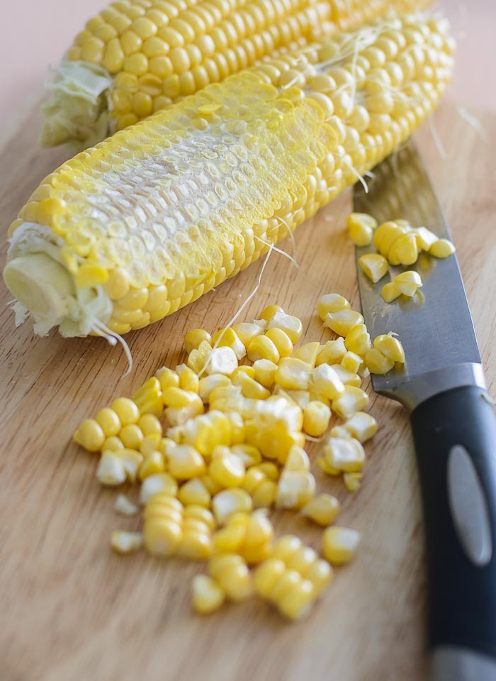 Fresh corns for soup