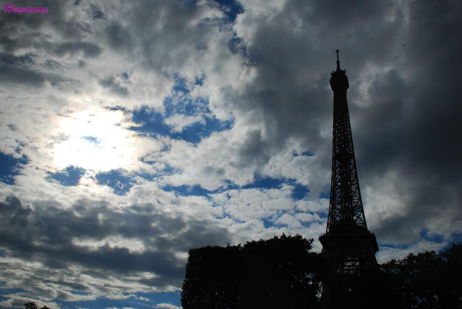 艾菲爾鐵塔Eiffel Tower 2017/05/20 1887年起建,而設計師為居斯塔夫.艾菲爾 分為三層,分別離地57.6米,115.7米,276.1米,一、二樓為餐廳,三樓為觀景台,塔座有1711級階梯,共7000噸鋼鐵,12000個金屬部件,250萬顆鉚釘,模仿人體骨頭為建,鏤空結構鐵塔,塔高300公尺,總高320公尺