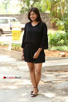 Actress Hebah Patel Stills in Black Mini Dress at Angel Movie Teaser Launch  0015.JPG