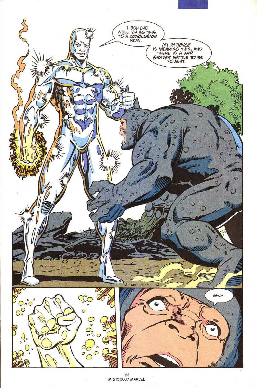 Read online Silver Surfer (1987) comic -  Issue #54 - 25