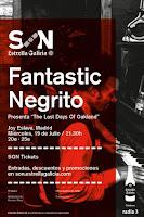 Concierto de Fantastic Negrito en Jiy Eslava